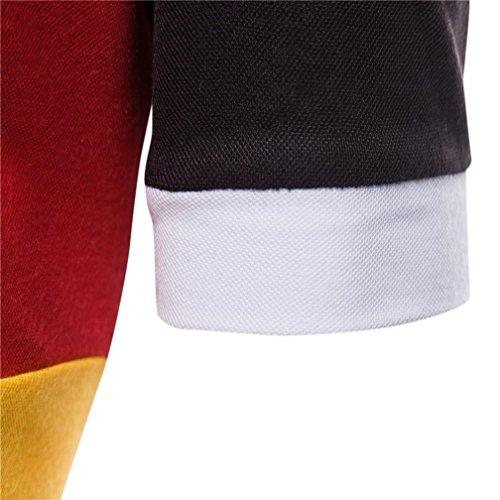 Realdo Mens Multi Color Polor Shirts, Casual Fashion Slim Skinny Button Short Sleeve Pullover Top T-Shirt(Black,XX-Large) by Realdo (Image #4)