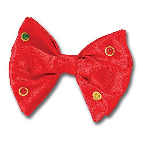 Bristol Novelty GJ021 Flashing Bow Tie , Red , One Size ()