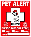 Amazon Price History for:PET SAFETY ALERT 234001 2-Count Static Cling Window Decal for Pets