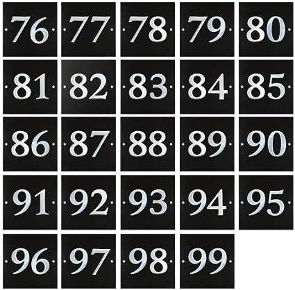 1 a 99 disponible Placa grande de granito negro y cromo para el n/úmero de casa
