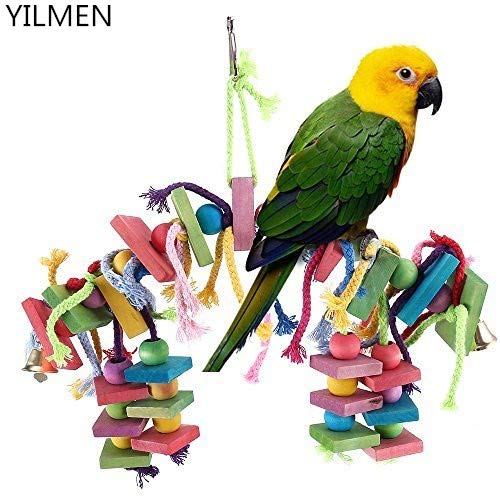 YILMEN Bird Knots Block Chewing Toys Parrot Toys Bird Toys for Large Birds Macaw African Greys Parakeets Cockatiels Conures Medium Cockatoo