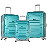 Best OLYMPIA Travel Luggage Sets - Olympia Denmark 3 Piece Luggage Set, Teal Review