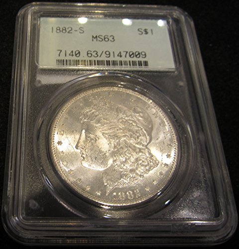 1882 S Morgan Dollar $1 MS63 PCGS