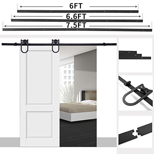 "JAXPETY 6.6 FT ""U"" Style Barn Door Sliding Horseshoe Door..."