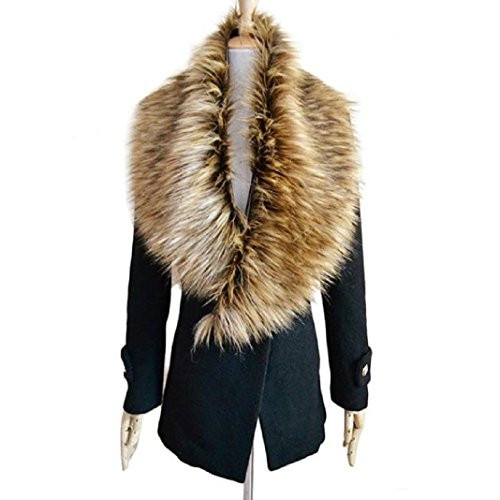 Leather Coat With Fur Collar - 1