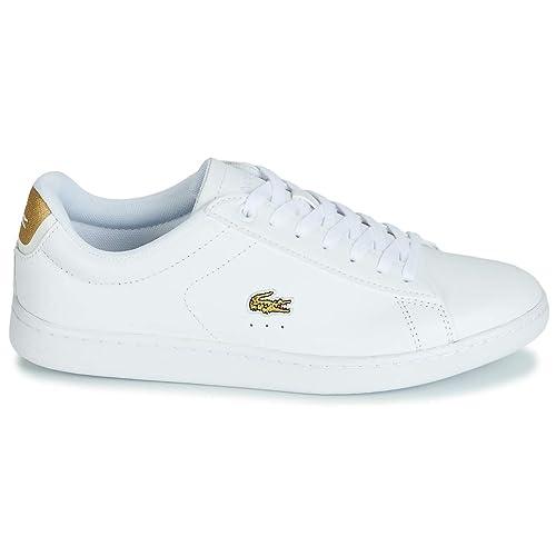 Lacoste, Carnaby EVO 219 1 Blanco 37SFA0018, Zapatillas Blancas para Mujer: Amazon.es: Zapatos y complementos