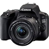 Canon EOS 200D Rebel SL2 Kit with EF-S 18-55mm f/4-5.6 IS STM Lens Digital SLR Cameras (Black)