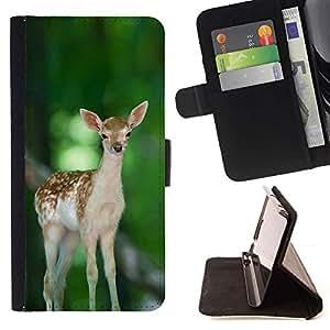 Momo Phone Case / Flip Funda de Cuero Case Cover - Feliz lindo del cervatillo de los ciervos;;;;;;;; - Samsung Galaxy S6 Active G890A