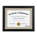 RPJC 8.5x11 Document Frame/Certificate Frames Made of Solid Wood High Definition Glass and Display Certificates Standard Paper Frame Black