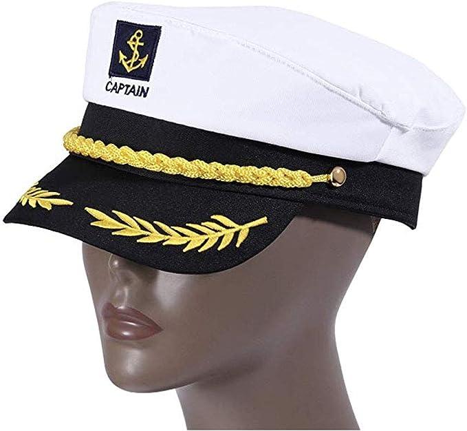 ysister Gorra capitán Adulto Yate Barco Navegante Capitán Traje ...