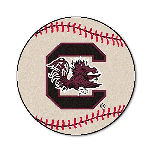 FANMATS NCAA University of South Carolina Gamecocks Nylon Face Baseball Rug Carolina Baseball Rug