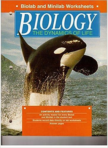 Biology the Dynamics of Life Biolab and Minilab Worksheets ...