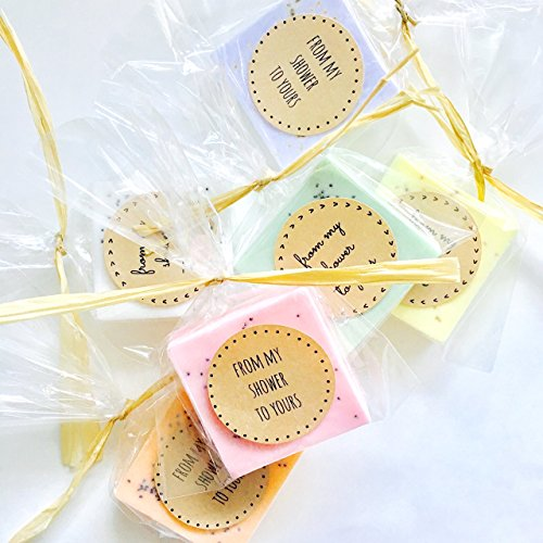 75 Wedding Favors: Soap Favors for Wedding Favors, Bridal Shower Favors, or Baby Shower Favors by kitschandfancy