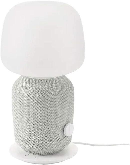 Lámpara SYMFONISK IKEA Lámpara de mesa con caja WiFi, color blanco ...