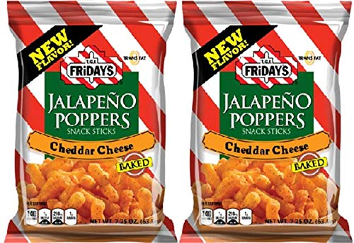 TGIF Jalapeno Poppers | Cheddar Cheese Puffed Snacks | 2.25 Ounce Bag | 2 Pack (Best Food At Tgi Fridays)