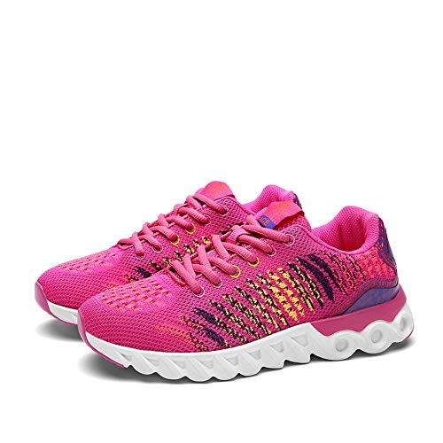 Hombres Rose Gimnasio Running Deporte Casual Unisex Red Zapatos Deportivas para Mujer Sneakers Transpirables 66qg4Axf