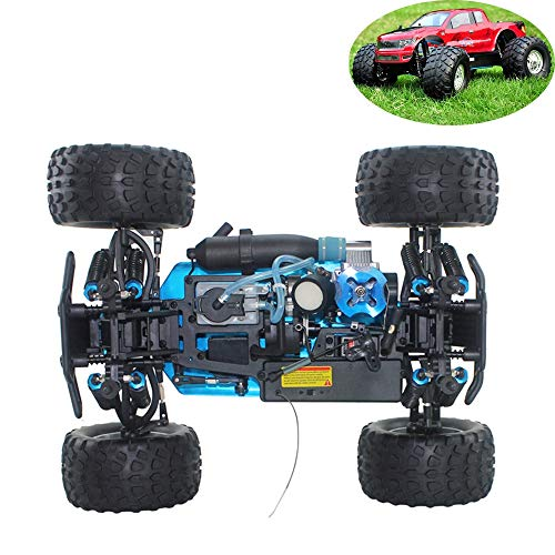 WYY RC Nitro Car,Buggy Off-Road Vehicle Toy,Alloy Four-Wheel Drive Bigfoot, Fuel Remote Control Car Simulation Car Model Toy for Adults,C