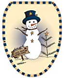 Toilet Tattoos TT-X621-O Americana Snowman Design Toilet Seat Applique, Elongated