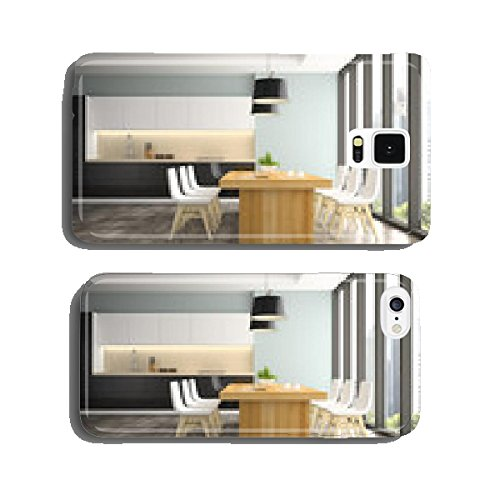 modern-interior-of-dining-room-with-white-chairs-3d-rendering-cell-phone-cover-case-iphone6
