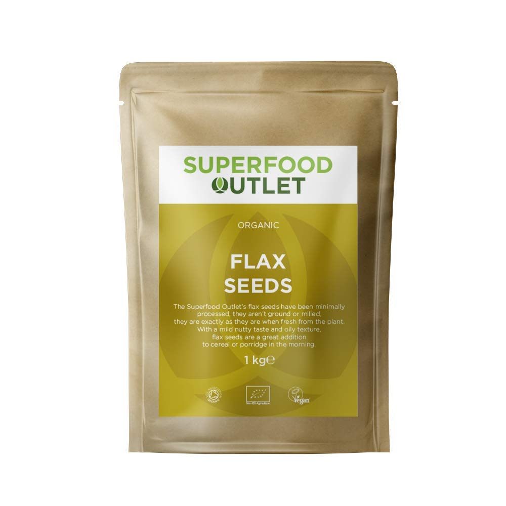 Organic Flax Seeds/Linseeds | 1kg | Superfood Outlet