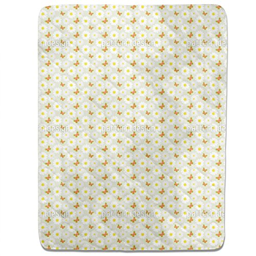 Butterflies Dance With Daisies Fitted Sheet: Twin Luxury Microfiber, Soft, Breathable by uneekee