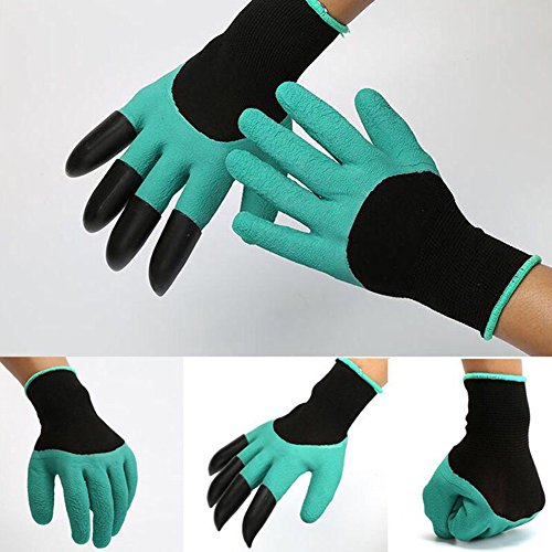 Gardener Gloves with Claws Great for Digging Weeding Seeding poking Safe for Rose Pruning Best Gardening Tool -Best Gift for Gardeners by Gaweb (Image #3)