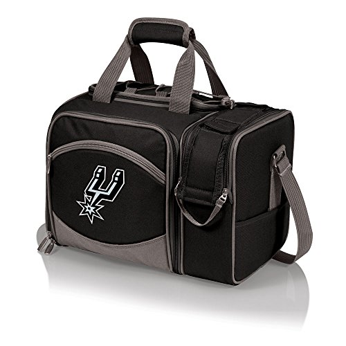 NBA San Antonio Spurs Malibu Insulated Shoulder Pack with Deluxe Picnic Service for Two