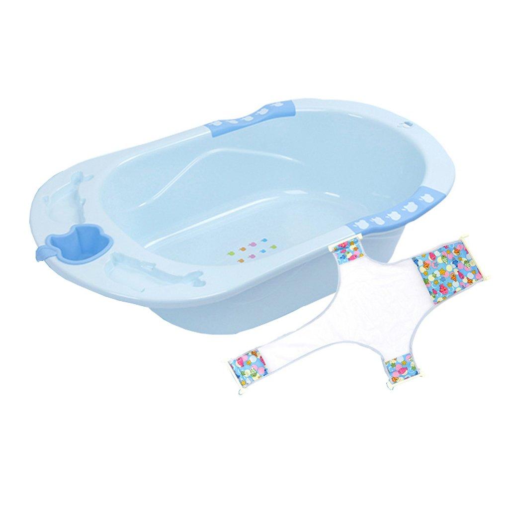 座って置くことができますポータブルノンスリップ家庭プラスチック多機能06歳のベビーバスタブ快適で丈夫な/材料安全/安定したと変形されていない (色 : Blue)  Blue B07FRCJCP8