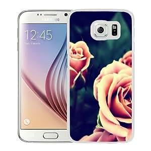 Fashionable Custom Designed Samsung Galaxy S6 Phone Case With Pink Roses_White Phone Case Kimberly Kurzendoerfer