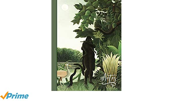 Sketching Doodling - Blank Sketch Paper Composition Book For Drawing Large Henri Rousseau Green Jungle Landscape The Snake Charmer Painting Notes: Artist Notebook