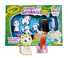 Crayola Scribble Scrubbie Safari Tub Animal Toy Set Age 3+