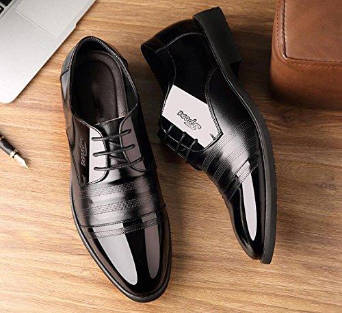 Dentro Casuales En Resistente Moda LQV Negocios Antideslizante Aumentar Hombre Cómodo Desgaste De Zapatos 2 Calzado De Black Al Inglaterra Px0zxS6