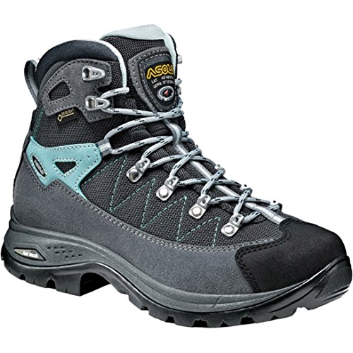 - Asolo Women's Finder Gv ml High Rise Hiking Shoes, Grey (Grigio/Gunmetal/Bleu Pool A177), 5 UK
