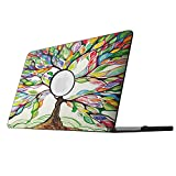 Fintie MacBook Pro 13 Retina Case - Slim Lightweight PU Leather Coated Plastic Hard Cover Snap On Protective Case for MacBook Pro 13.3' with Retina Display (A1502 / A1425), Love Tree