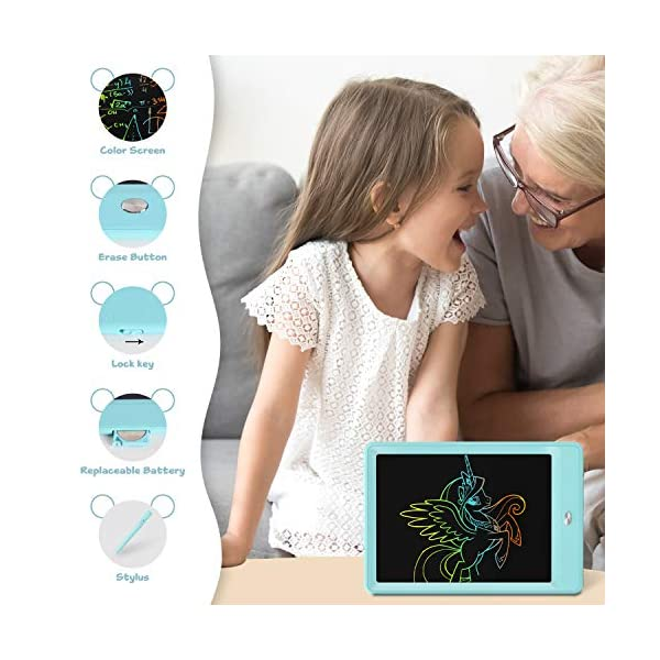 TENOL Girl Toys for 3-6 Year Old Girls Gifts Age 3 Drawing Board LCD Doodle Board for 3-6 Year Old Girls Toys for Birthday Girls Toys Age 3-6 Kitty Pink