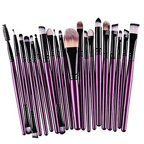 Hosaire 15 Piezas Maquillaje Profesional de Los Cepillos Kit de Sombra de ojos Cepillo de Base Cejas Cepillos del Maquillaje Forma del Cepillo de Dientes ...