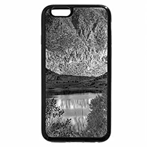 iPhone 6S Plus Case, iPhone 6 Plus Case (Black & White) - beautiful colors around a mountain lake hdr