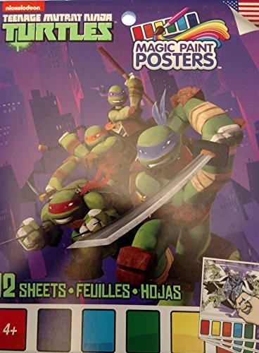 Nickelodeon Teenage Mutant Ninja Turtles Magic Paint Posters (12 Sheets( -
