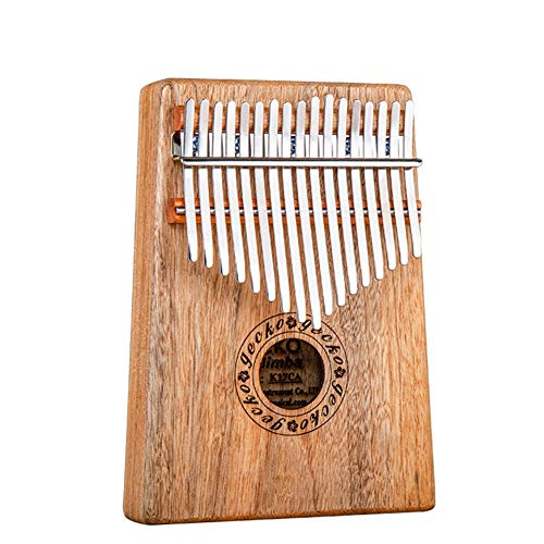 MG.QING Kalimba 17 Key Camphor Wood B-Tone Electronic Thumb Piano Mbira Kalimba Musical Instrument,A by MG.QING (Image #1)