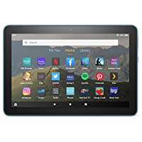 """Fire HD 8 tablet, 8"""" HD display, 32 GB, latest model (2020 release), designed for portable entertainment, Twilight Blue"""