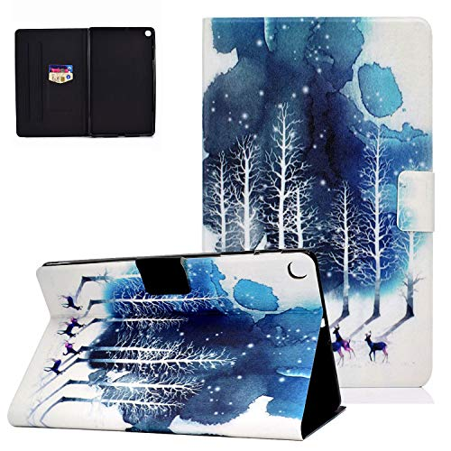 """UGOcase Galaxy Tab S6 Lite 10.4 Inch SM-P610/P615 2020 Release Case, Slim Lightweight PU Leather Protective Case Anti Slip Stand Cover with Card Slot for Galaxy Tab S6 Lite 10.4"""" 2020, Forest Deer"""