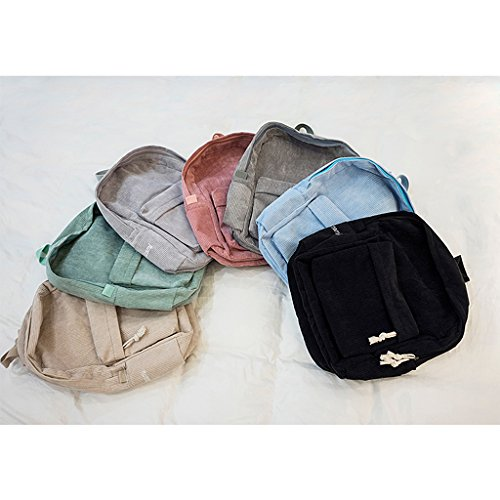 Bags Fashion Backpack School Black Dabixx Rucksack Girls Corduroy Students Women Black gqqdxw8C