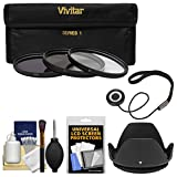 Vivitar 3-Piece Multi-Coated HD Filter Set (67mm UV/CPL/ND8) with Lens Hood + Accessory Kit