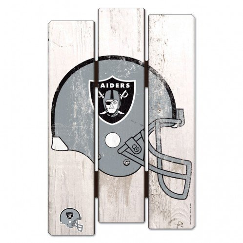 Oakland Athletics Wood Sign - WinCraft NFL Oakland Raiders Wood Fence Sign, Black