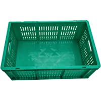 Sampada Synthetics Bauzooka Handling Storage Container Plastic Crate, 500 x 325 x 200 mm, SSP (Green)