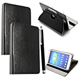 10inch Tablet Case Cover - Universal Leather Stand Case Folio Cover Magic Leather 360° Rotating Case Fits for ALL 10' Inch & 10.1' Inch Tablets + Stylus Pen (BLACK)