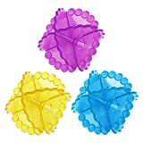 Poity 1 Piece Magic Soft Laundry Ball Washing Machine Dryer Clothes Cleaner Color Random