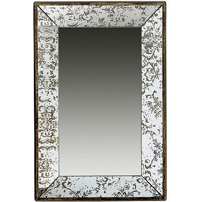 A&B Home 31501 Antique-Look Frameless Rectangle Wall Mirror/