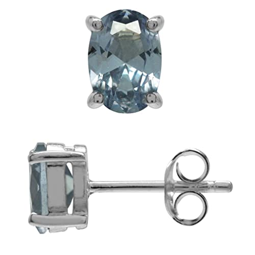 c68200631 Image Unavailable. Image not available for. Color: Simulated Color Change  Alexandrite White Gold Plated 925 Sterling Silver Stud Earrings