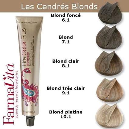 Farmavita - Tinte para coloración del cabello, tono rubio ceniza oscuro 6.1